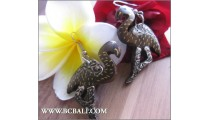 Bali Swan Earring Woods Carving Painting Fashion