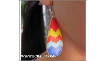Balinese Wooden Earring Hand Painting