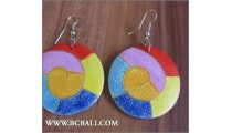 Fashion Earring Wood Painting Bali