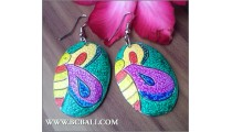 Fashion Wooden Earring Painting