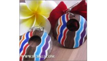Fashion Woods Earring Painting Bali