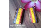Handmade Colored Fashion Earrings Bali