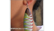 Painted Fashion Earring Woods Bali