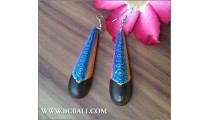 Woman Ear Painted Wooden Fashion
