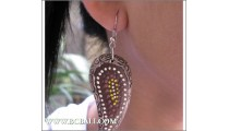 Woman Earring Woods Floral Handmade