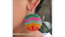 Woman Fashion Woods Earring Painting