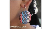 Woods Earring Painted Fashion