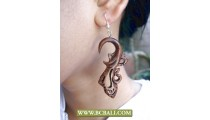 Bcbali Hand Carving Wooden Earring Fashion