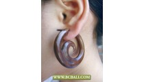 Handmade Sono Wooden Carved Fashion Earring