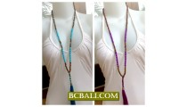 Bali Tassel Necklace Multi Seeds