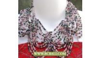 Chocker Necklaces Multi Seeds Beading Fashion
