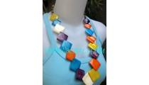 Multi Color Cow Bone Fashion Necklaces