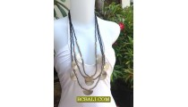 Beads Necklaces Charm Multi Strand Long Seed