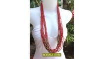 Beads Necklaces Multi Seeds Wood