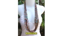 Beading Necklaces Multi Seed wooden