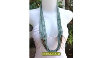 Beaded Necklaces Multi Seeds Wooden Strand