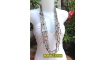 Long Seeds Bead Mix Color Necklace Fashion