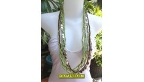Long Strand Beaded Necklace Charm Design Bali Style