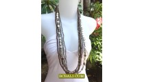 Long Strand Beaded Necklace Charm Design Bali Stylist