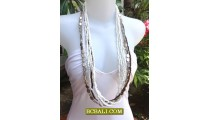 Long Strand Beading Charms Necklace Ready Stock