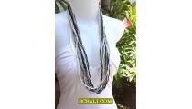 Long Strand Beading Necklace Multi Ready Stock