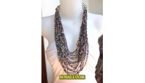 Multi Color Seeds Beads Necklace Fashion