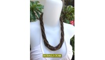 Rope Seed Bead Necklaces Chokers Fashion Design