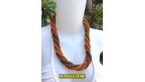 Rope Seeds Beads Necklaces Two Color Fashion