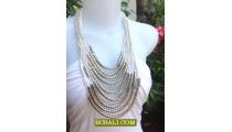 String Rope Necklaces Fashion Steels Beads