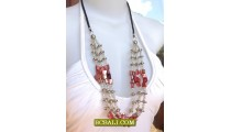 Triple Necklaces Seeds Beading Fashion Design