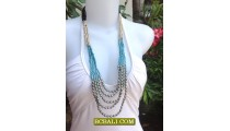 Woman Beads Fashion Necklaces Handmade Bali