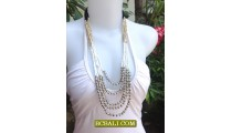 Woman Beads Jewelry Necklace Handmade Indonesia