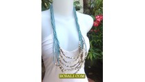 Woman Fashion Multi Strand Necklace Design 2013