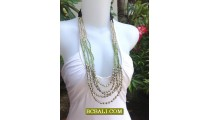 Woman Seed Beads Fashion Necklaces Handmade