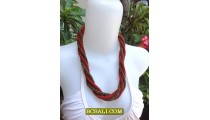 Wrap Seeds Beaded Necklace Chokers Jewelry Fashion