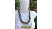 Wrap Seeds Four Beading Necklace Short Two Color