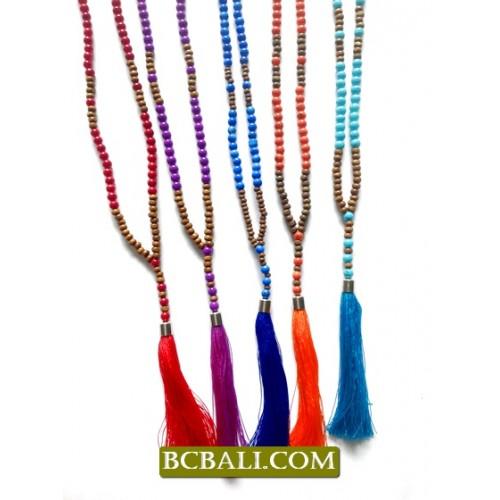 Bali pendants necklace tassel handmade necklace with pendant bali pendants necklace tassel mozeypictures Gallery
