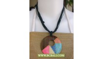 Bali Handmade Wooden Necklace Painted