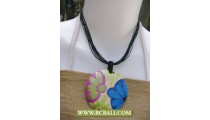 Bcbali Sono Wooden Painting Necklace