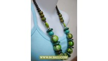 Chunky Wooden Bead Necklace Handmade