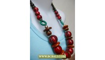 Coloring Wooden Beaded Necklace Handmade