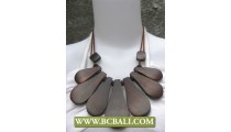Natural Sono Woods String Necklace Fashion