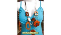 Unik Design Wooden Necklace String Painting