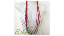 Indonesia Beaded Necklaces Multi Seeds