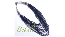Multi Strands Beading Necklaces Bali