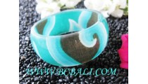 Glasses Resin Fashion Bangle