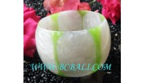 Large Bangle Resin Handmade Motif