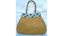 Handbags Rattan With Beads