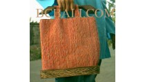 Handbags Seagrass Wood