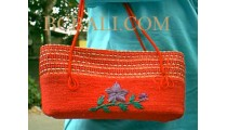 Handbags Sisal Red